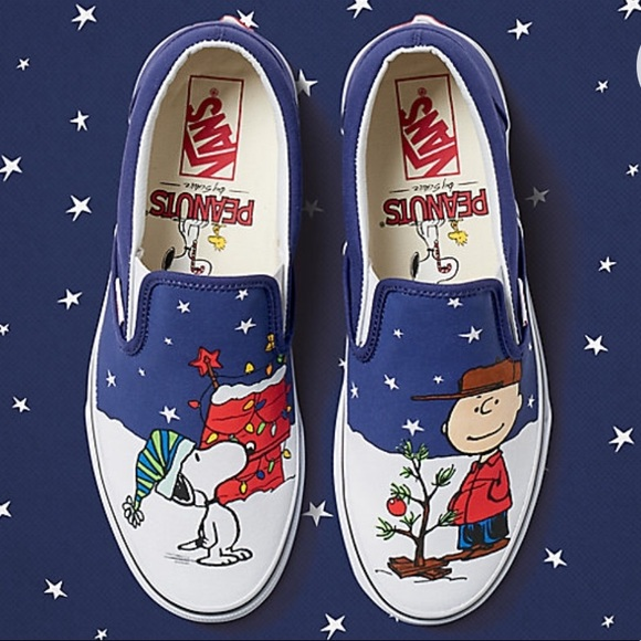 fe036160c213 VANS CHARLIE BROWN SNOOPY Peanuts Christmas 🎄. M 5b477492de6f62320fa3dad8